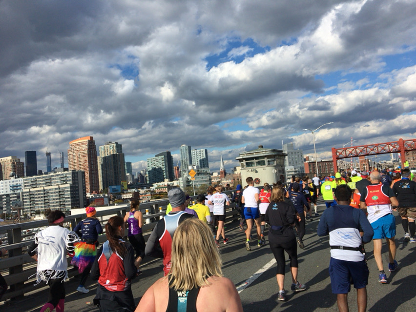 nyc marathon bridge