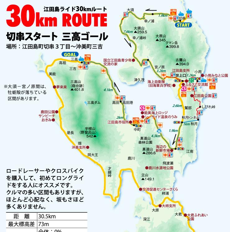 etajima 30km cycling map